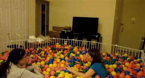 pit room how to build a ball pit in your living room video huffpost