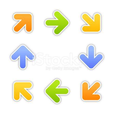 arrow label color sticker satin arrow sign satin icon label color square sticker web