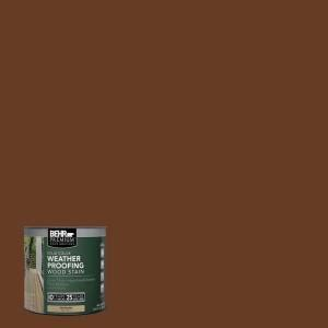 behr premium 8 oz sc110 chestnut solid color weatherproofing all in one wood stain and sealer