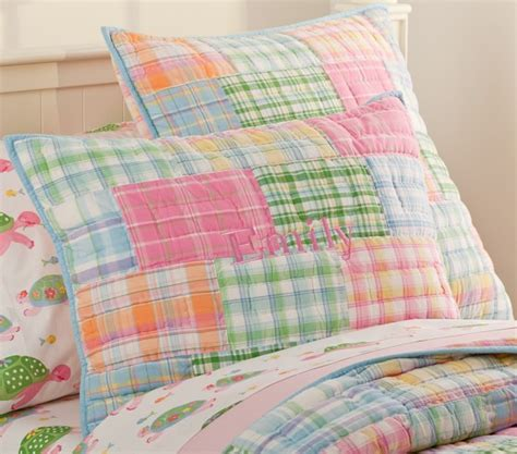 madras quilted bedding pottery barn