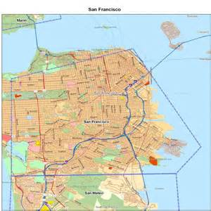 san francisco county ca california maps map of