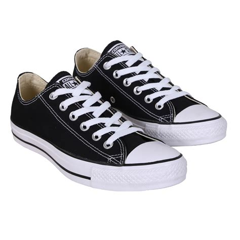 converse all ox black shoes