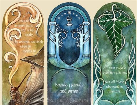 Printable Bookmarks Lord Of The Rings | lord of the rings bookmarks by unripehamadryad deviantart