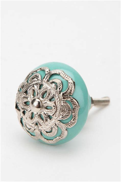 Draw Knobs by Medallion Knob Turquoise Eclectic Cabinet And Drawer