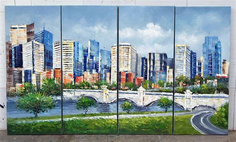 calgary knives high textured knife painting canadian city calgary