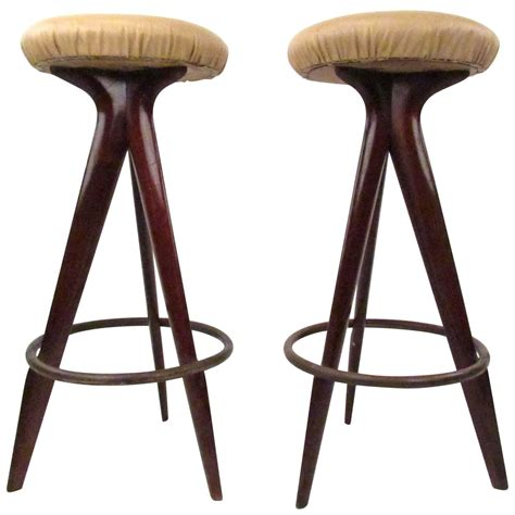 modern bar stools sale pair of mid century modern bar stools for sale at 1stdibs