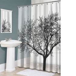 Big Shower Curtains Bathroom Fabric Shower Curtain Landscape Big Tree Design Waterproof 12 Hooks Ebay