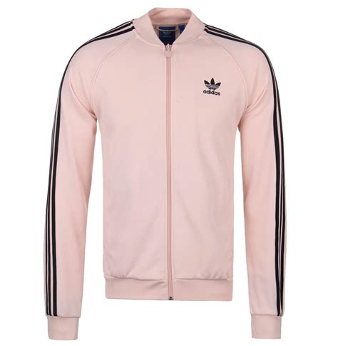 Zipper Hoodie Adidas Original Gold Logo Anime lyst adidas originals adidas sst tt zip through tracksuit sweatshirt in pink for
