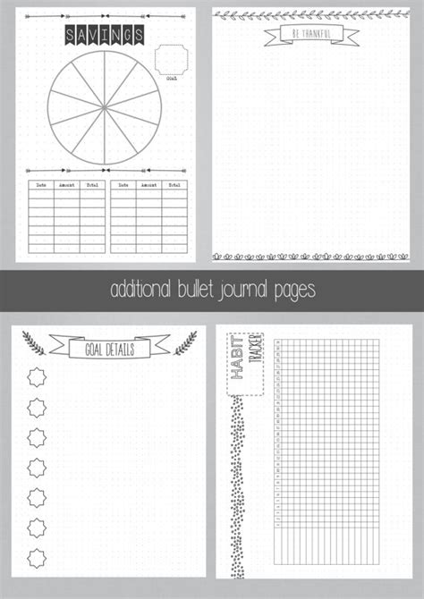 printable bullet journal ideas printable bullet journal