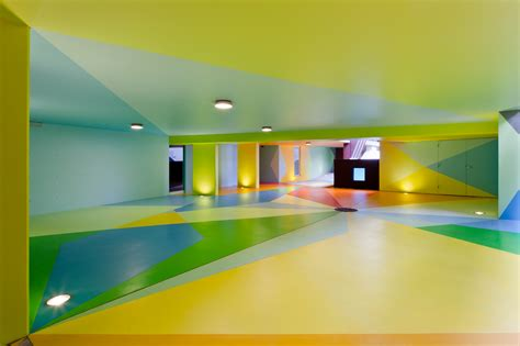 inside garage house design with colorful paint low ceiling and small l ideas