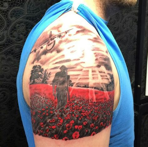 british military tattoo designs remembrance poppies it tattoos