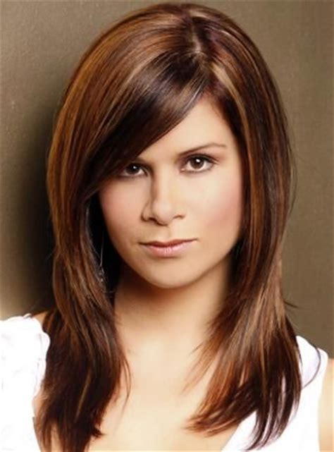 hairstyles with diagonal bangs wispy chin layers diagonal bangs hair pinterest