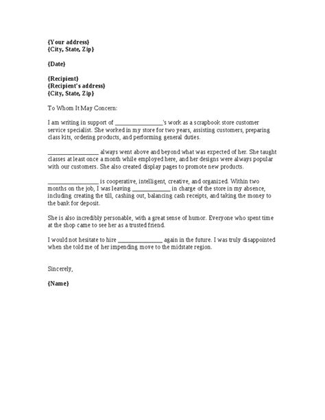 Recommendation Letter Format Work Map Of World Work Reference Letter