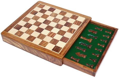 chess board buy wholesale 12x12 inch wooden chess set with storage drawer