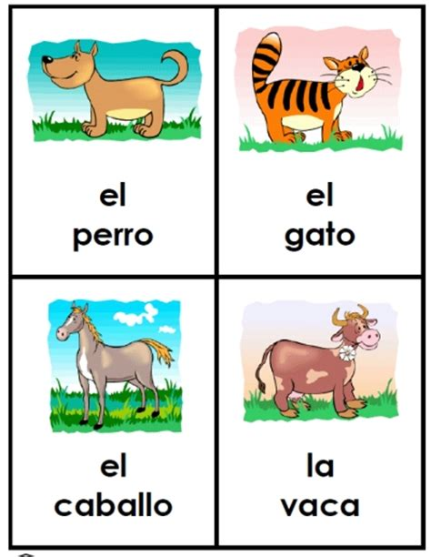free printable spanish flashcards free spanish animal friends cards printable spanish