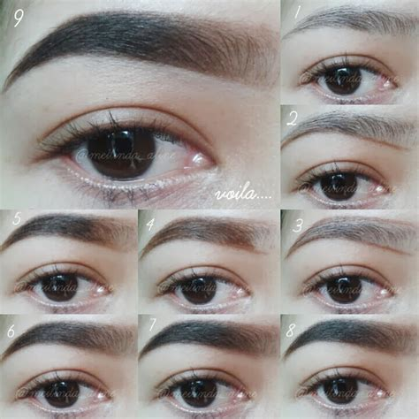 cara bikin alis gradasi thefemmesbeaute pictorial thick eyebrows natural