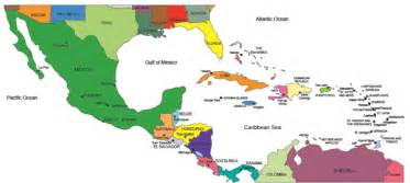 Central America Map Countries by Usa County World Globe Editable Powerpoint Maps For
