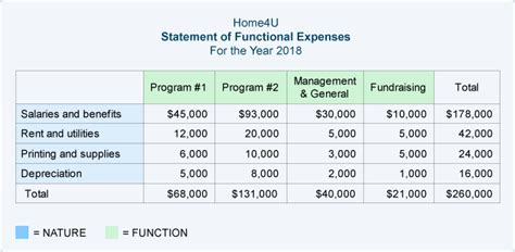 Nonprofit Accounting Explanation Accountingcoach Statement Of Functional Expenses Template