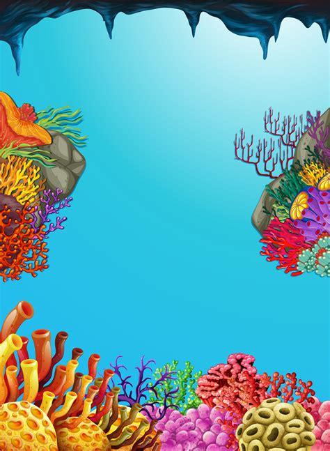 scene  coral reef underwater   vectors