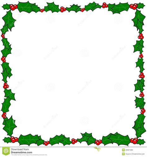 frame da beira do azevinho do natal fotos de stock royalty