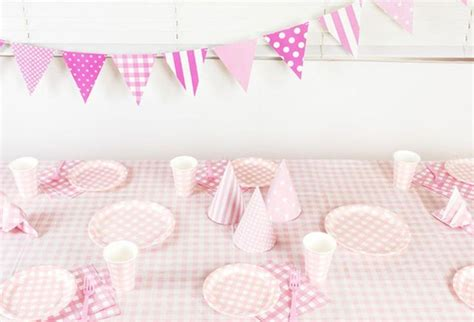 Tablecloths For Baby Shower by Gingham Check Pink Tablecloth Birthday Wedding Baby