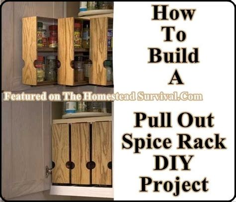 diy rolling spice rack build your own pull out spice racks the homestead survival for the home furniture