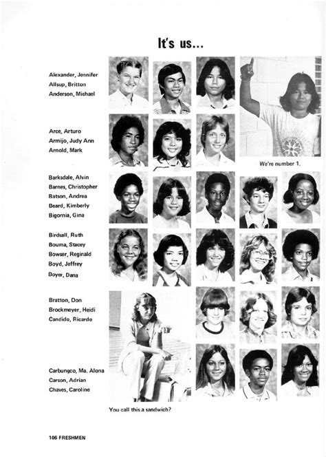 Wagner High School 1981 Fledgling Yearbook - Freshmen