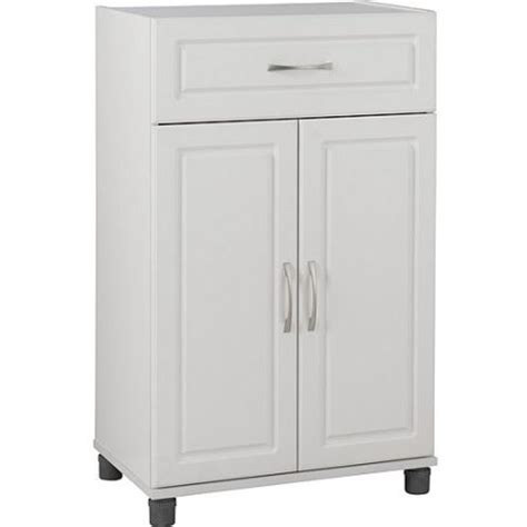 systembuild 1 drawer 2 door base storage cabinet white