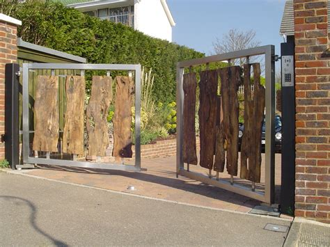 steel swing gate wooden and timber gate gallery security railings
