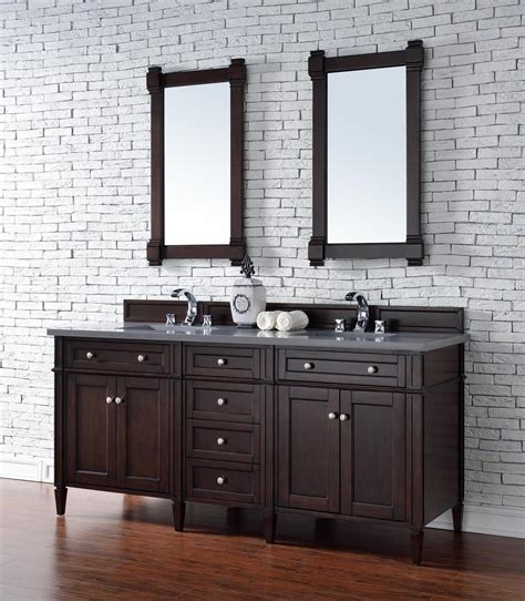 Bathroom Vanity No Top Contemporary 72 Inch Sink Bathroom Vanity Mahogany Finish No Top