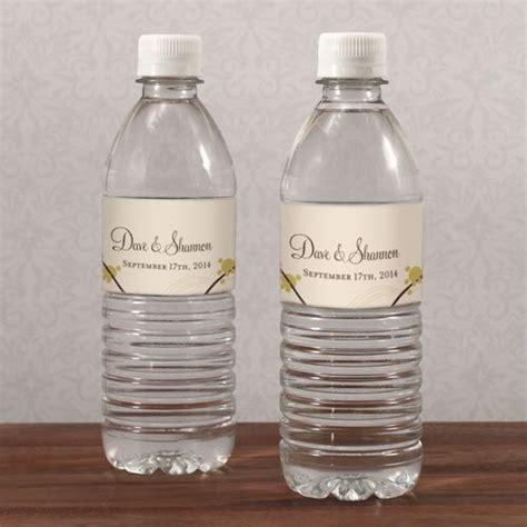 personalized love birds water bottle labels