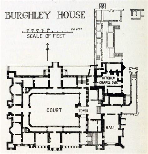 house layouts floor plans plan of burghley house england floor plans castles