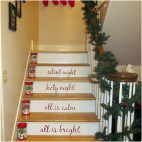 staircases decoration on christmas beautiful stairs