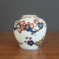 beautiful gold imari handpainted vase vintage chinoiserie