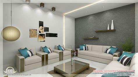 interior home design living room awesome 3d interior renderings kerala home design and