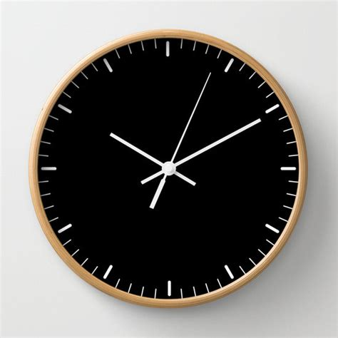 minimalist clock black wall clock classic design black and white minimalist