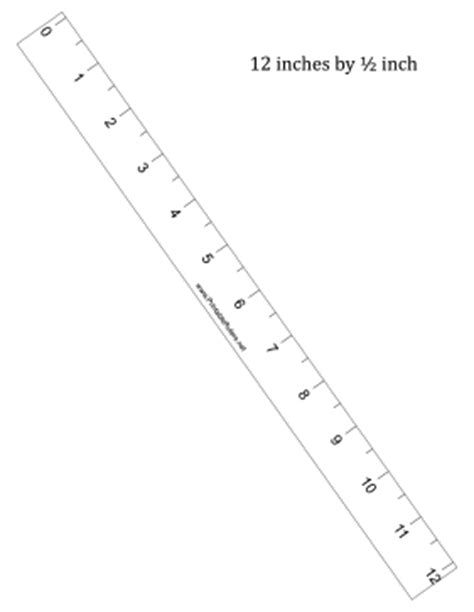 printable ruler half inch ruler 12 inch by 1 2 inch printable ruler