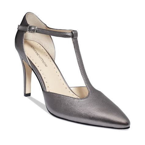 pewter colored heels adrienne vittadini cecelia pumps in gray pewter lyst