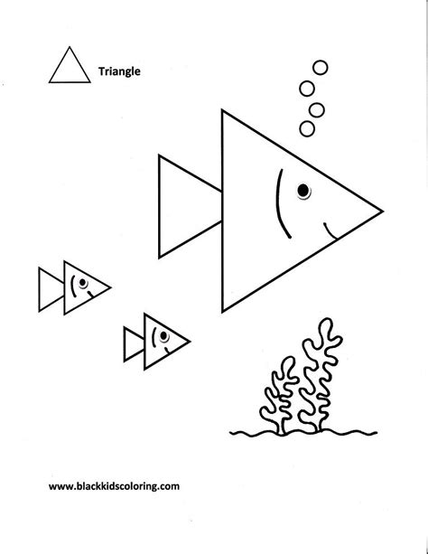 triangles coloring pages download and print for free