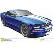 Voiture Bleue De Muscle Image Stock  29438981