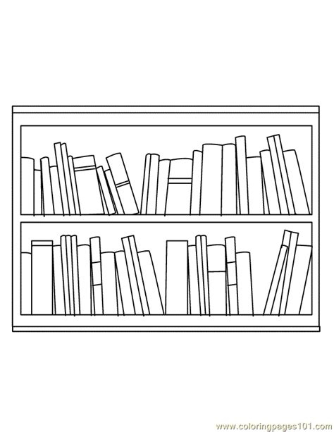 Book shelf Coloring Page   Free Books Coloring Pages