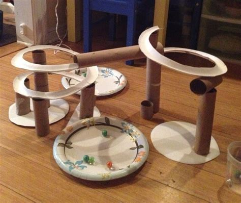 How To Make A Roller Coaster Out Of Paper - marble run using paper plates marble run