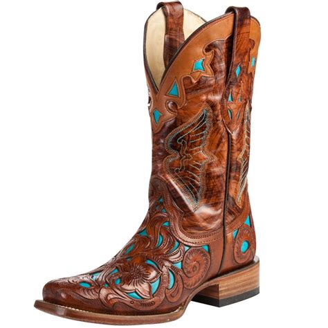 shop s corral chedron teal handtooled boots