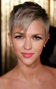 trendy grey hair popular short pixie hairstyles with colors hair for women