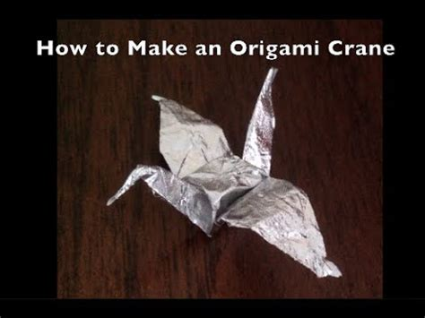 Origami Gum Wrapper Crane - origami crane gum wrapper how to make do everything