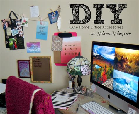 diy decorations office diy stylish organization and desk accessories work from