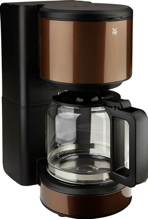 wmf kaffeemaschine terra aroma glas metallic gold braun
