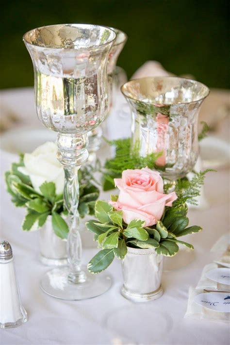 Mirror Vases Centerpieces by Best 25 Mercury Glass Wedding Ideas On Mercury Glass Centerpiece Mercury Glass