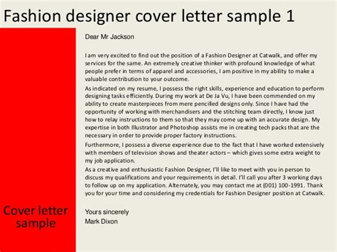 Assistant Fashion Designer Cover Letter by Fashion Designer Cover Letter