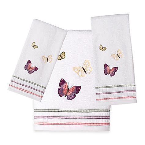 rainbow butterfly bath towel collection bed bath amp beyond